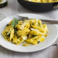 Buttery tortellini with sage and pumpkin seeds