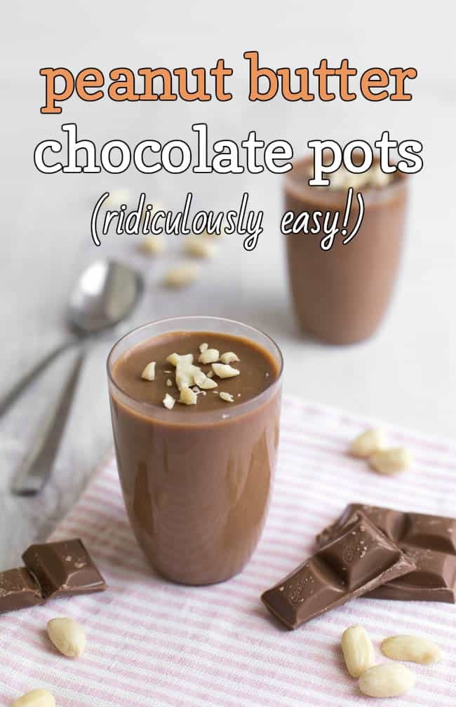Easy peanut butter chocolate pots