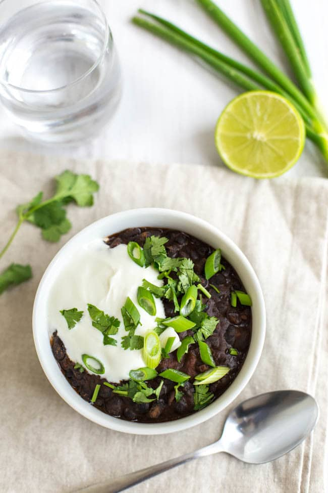 15 minute black bean soup - plus loads of other vegetarian lunch ideas!