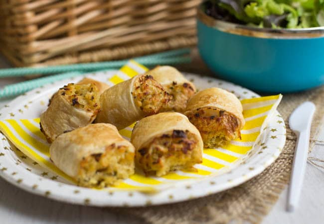 Cheese and onion lentil rolls