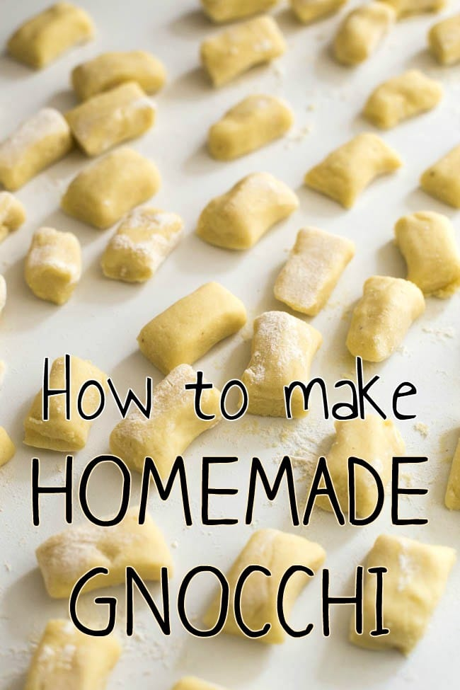 How to make homemade gnocchi - including an amazing time-saving tip! This gnocchi is so light and fluffy, especially if you sauté it before serving!