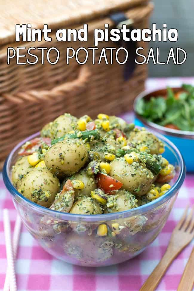 Mint and pistachio pesto potato salad