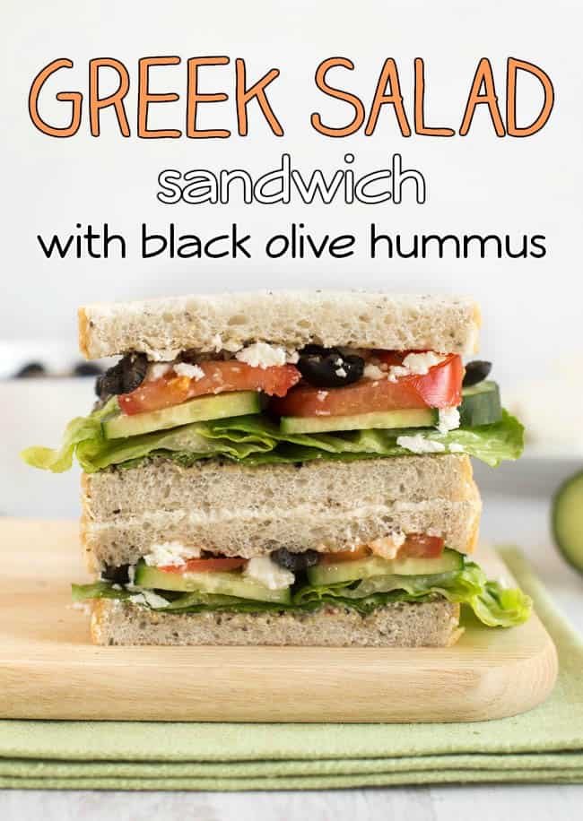 Love a good sandwich? Try my Greek salad sandwich with black olive ...