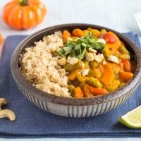 Creamy pumpkin curry