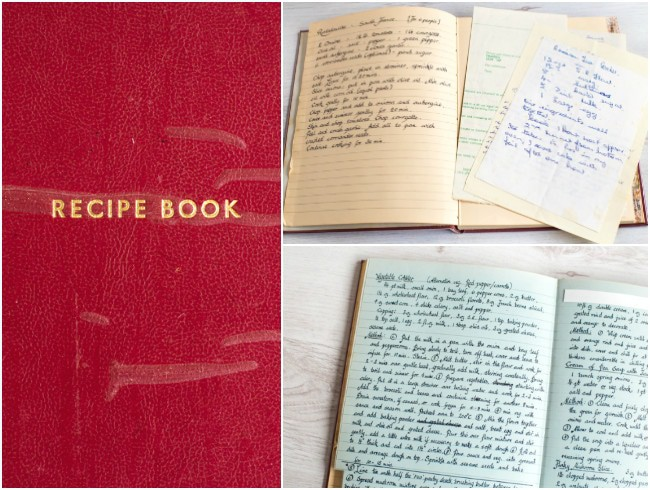 My Granny's old handwritten cookbook