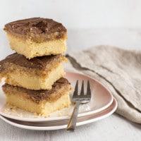 Homemade peanut butter millionaire's shortbread