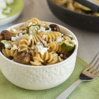 Pasta in miso brown butter sauce