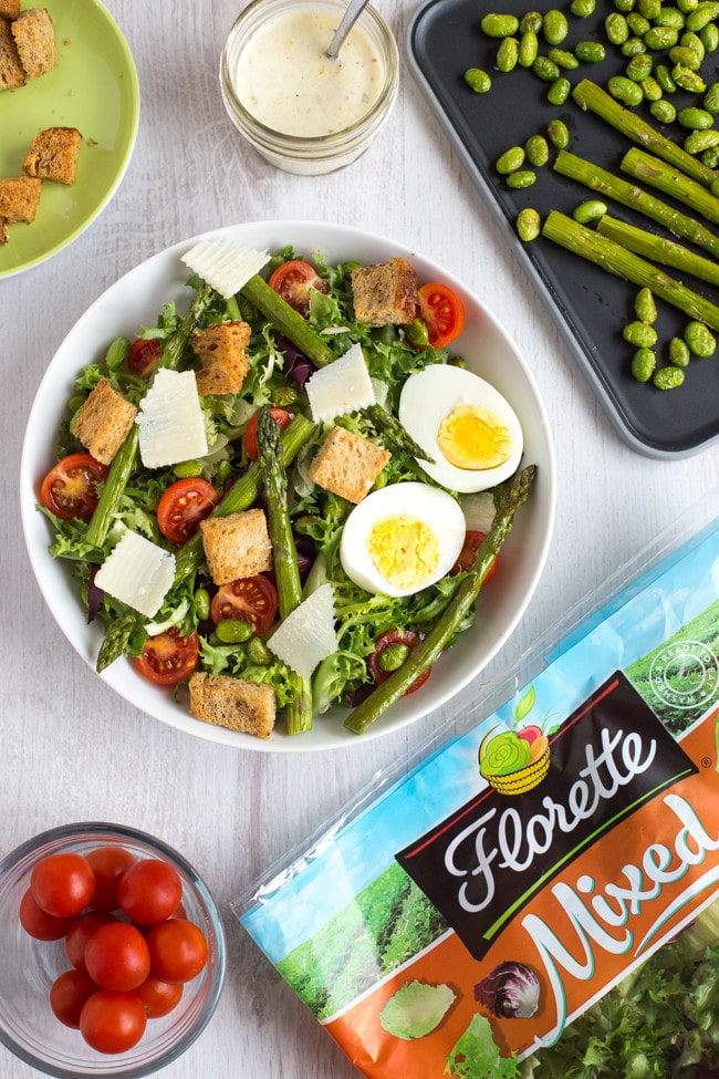 The ultimate vegetarian Caesar salad - with homemade Caesar dressing, and tons of toppings to transform it into a full meal!