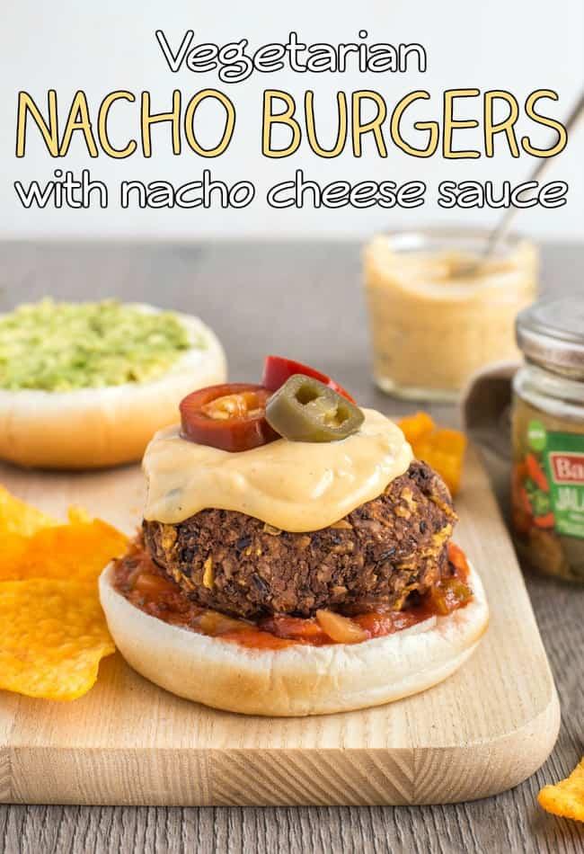 Vegetarian nacho burgers