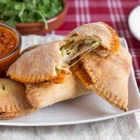 Mini cheesy broccoli calzones