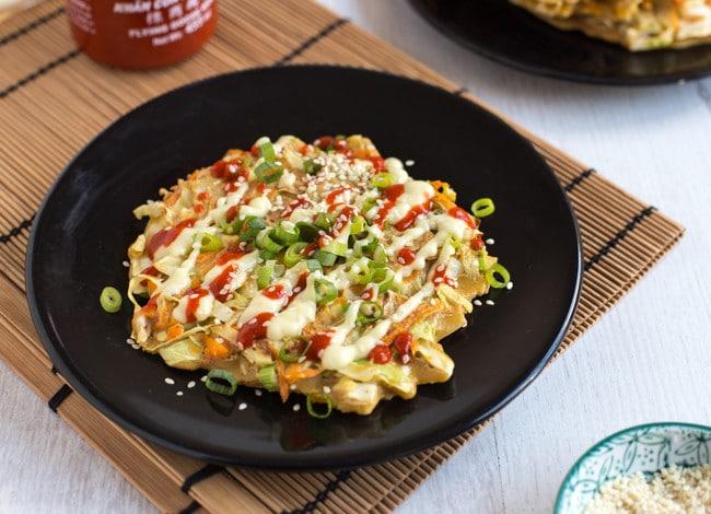 Japanese Pancake Recipes: Vegetarian Okonomiyaki (Japanese Cabbage Pancakes)