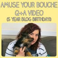 5 year blog birthday – Q+A video!