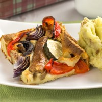 Vegetable toad in the hole