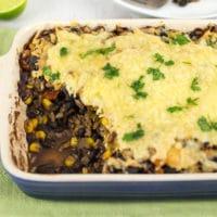Mexican black bean casserole
