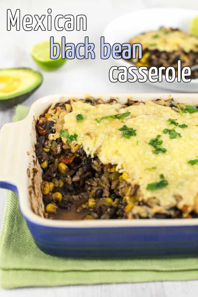Mexican black bean casserole