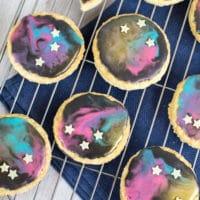 Oaty galaxy cookies