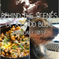 Behind the scenes of a food blog: February 2017