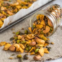 Cajun spiced savoury trail mix