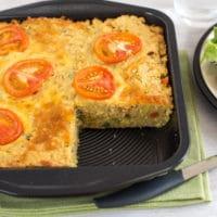 Cheesy lentil slice