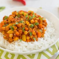 Mango chickpea curry
