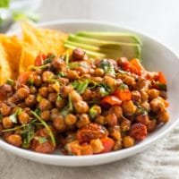 Cheesy nacho roasted chickpeas