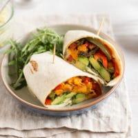 Avocado and sweet potato wraps