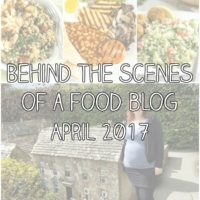 Behind the scenes of a food blog: April 2017