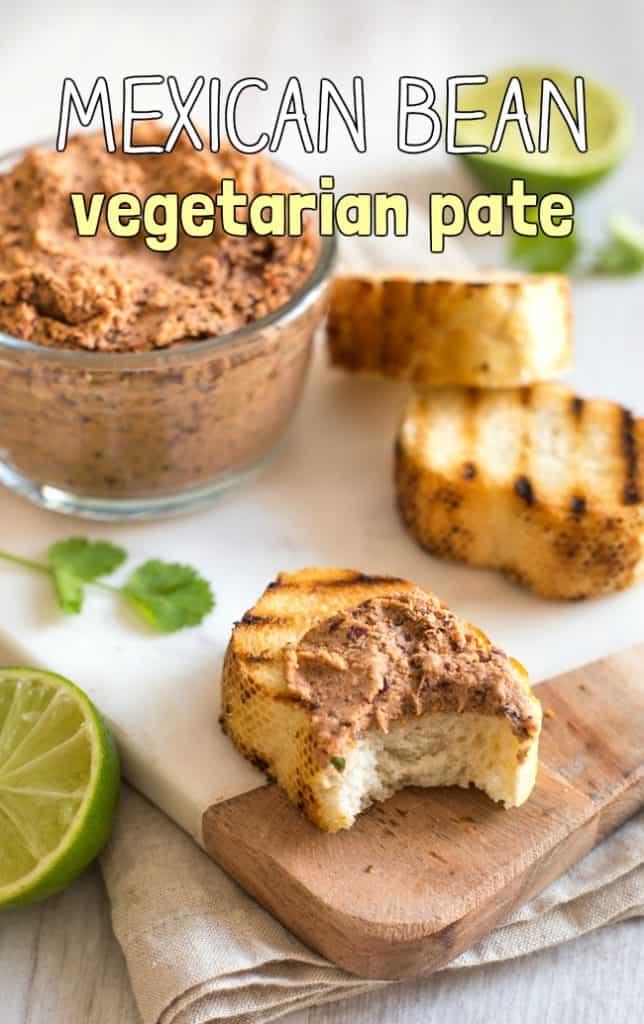Mexican bean vegetarian pate