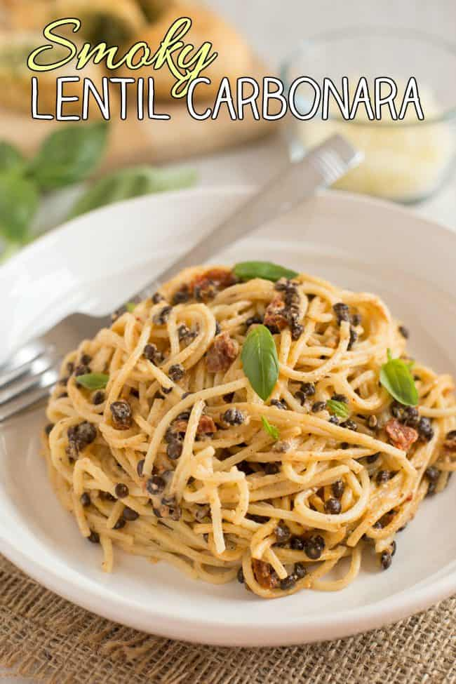 Smoky lentil carbonara