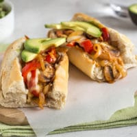 TexMex vegetarian cheesesteak sandwiches
