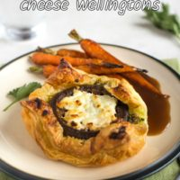 Easy mushroom and goat's cheese wellingtons with parsley pesto