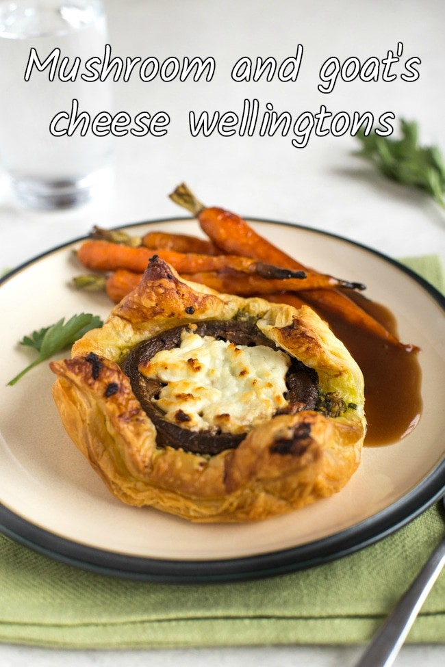 easy mushroom and goat 39 s cheese wellingtons with parsley pesto amuse your bouche. Black Bedroom Furniture Sets. Home Design Ideas