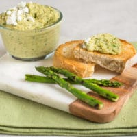 Asparagus and feta vegetarian pâté