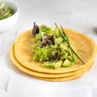 High protein lentil tortillas