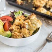 Hummus roasted cauliflower