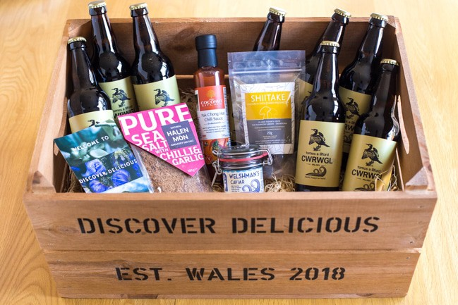 A hamper of Welsh products