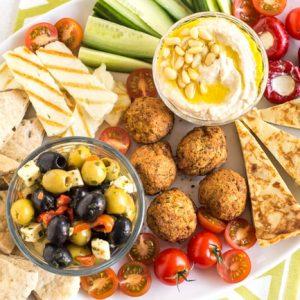 How To Make An Easy Vegetarian Mezze Platter Easy Cheesy