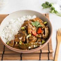 Tofu satay curry