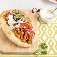 Indian roasted chickpea flatbreads