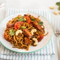 Spicy sweet potato noodles