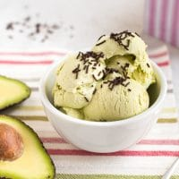 Easy no churn avocado ice cream