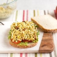 Coronation tofu salad sandwiches