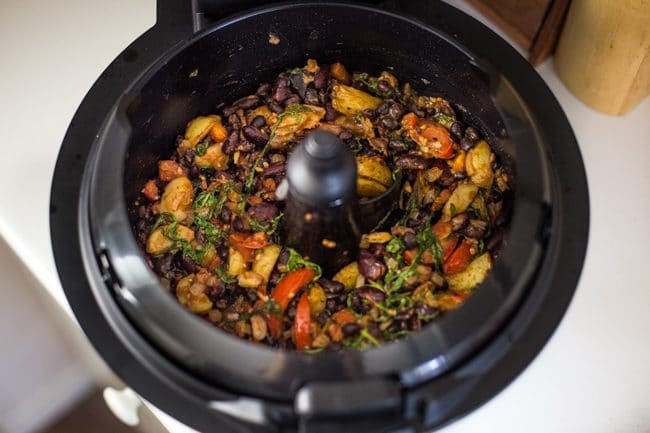 Madagascan bean stew cooking in a Tefal ActiFry