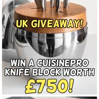 UK giveaway – win a Cuisinepro knife block worth £750!