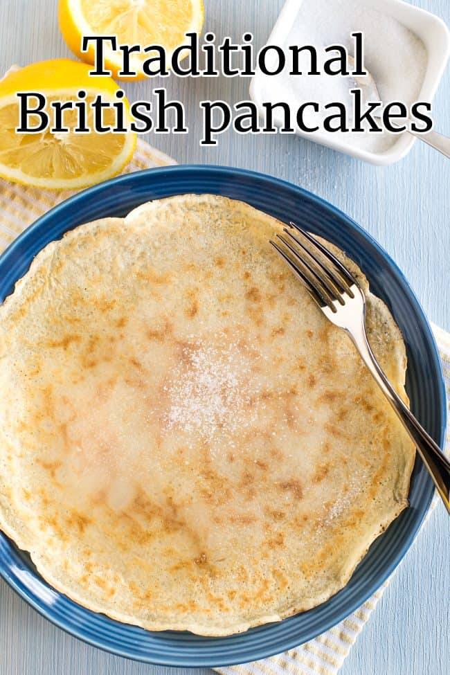 Traditional British Pancakes Easy Cheesy Vegetarian