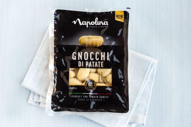 Packet of Napolina potato gnocchi.