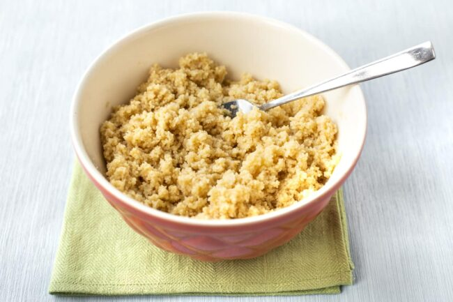 Fluffy couscous in a bowl.
